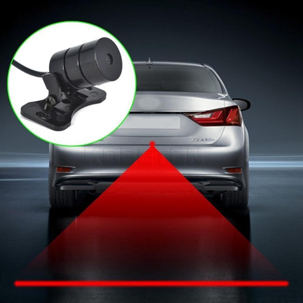 Neue Muster Anti Kollision Hinten-ende Auto Laser Schwanz Nebel Licht Auto Brems Parkplatz Lampe Aufzucht Warnung Licht Auto styling