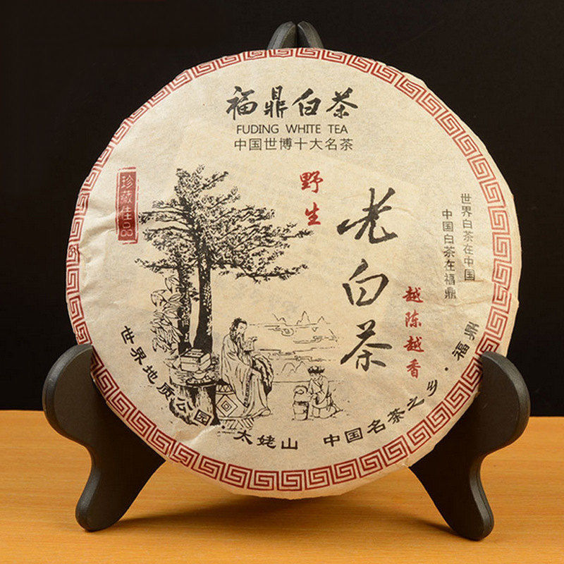 Fuding White Tea Organic Premium Aged 350g Shou Mei Long Life Eyebrow Cake Fuding White CHINA OLD BAI CHA GD18