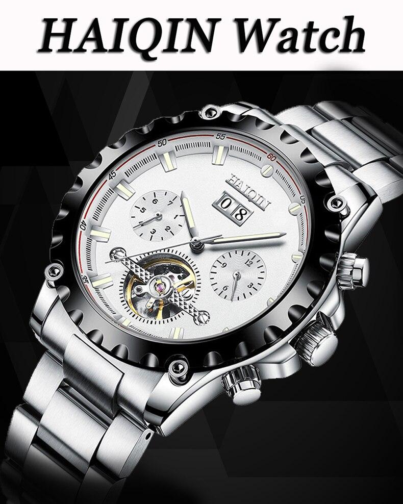 de luxo automático relógios mecânicos para homem