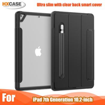 Newest transparent back cover case for ipad 7th generation leather smart 8th 10.2 - discount item  37% OFF Tablet Accessories