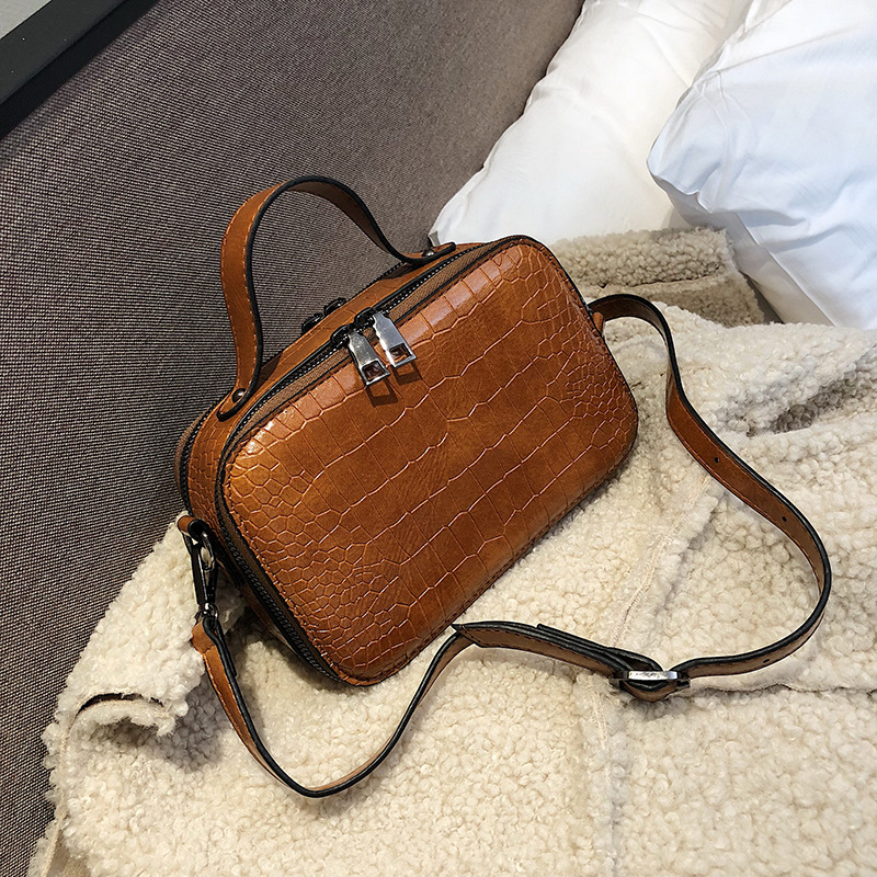2020 Pattern Leather Crossbody Bags For Women  Fashion Small Solid Colors Shoulder Bag Female Handbags And Purses With Handle