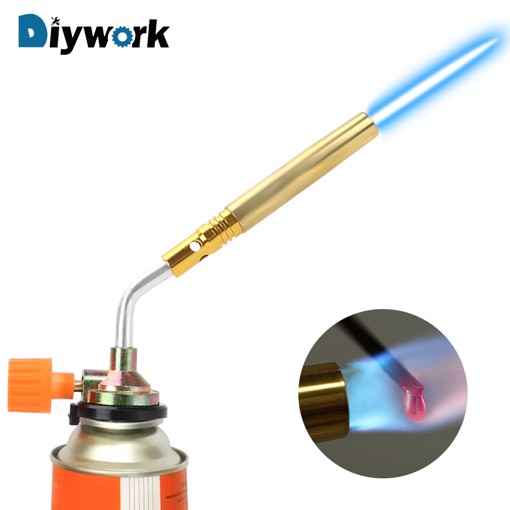 DIYWORK  Welding Torch Flamethrower Burner Flame Gun Hand Ignition Camping Welding BBQ ToolPortable Butane Gas Blow Torch