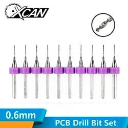 XCAN 10 teile/satz 0,6mm Import Carbide PCB Bohrer, Print Circuit Board Mini CNC Bohren Bit Set