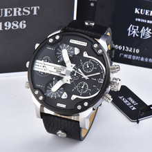 цена на KUERST Men's Watch Big Dial Quartz Sport Wrist Watch Male