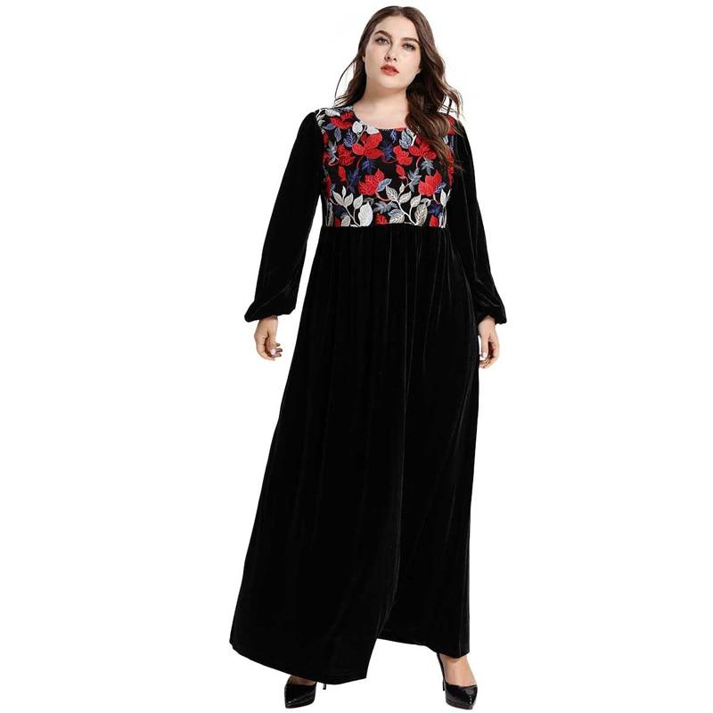 Vetement Femme 2019 Velvet Abaya Turkish Islamic Muslim Hijab Dress Abayas For Women Dresses Kleding Kaftan Dubai Islam Clothing
