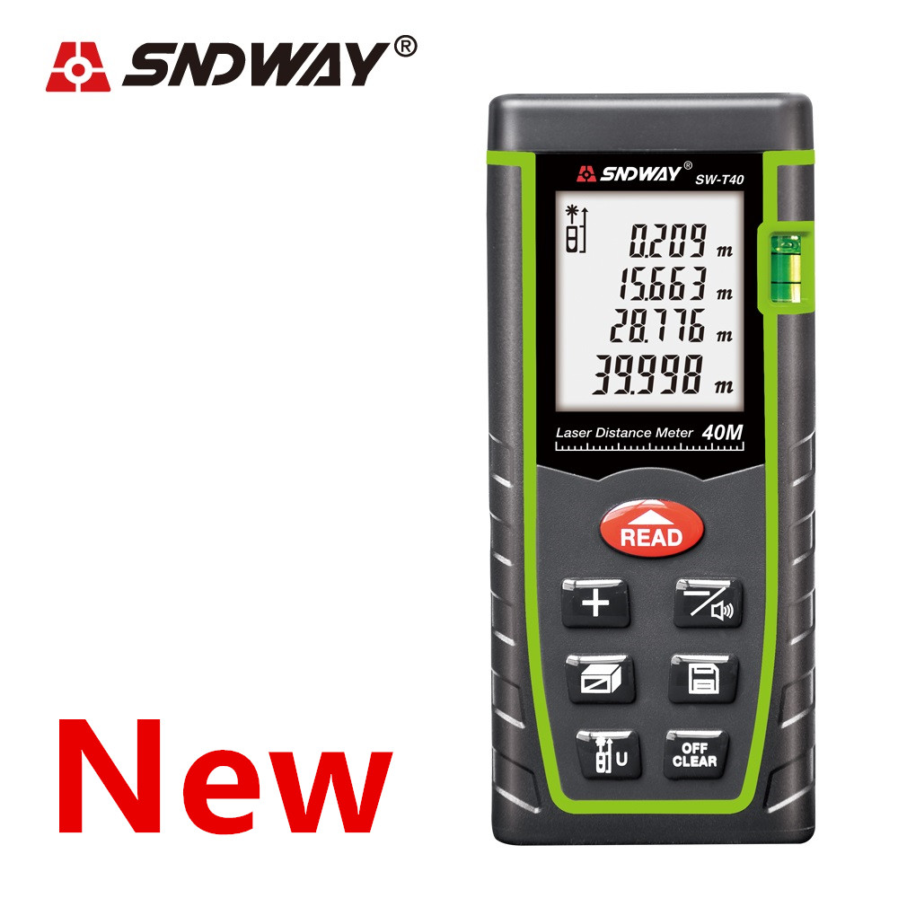 SNDWAY Laser Distance Meter 40-120M with LCD and Auto Power Off to Measure Wide Range Area 2