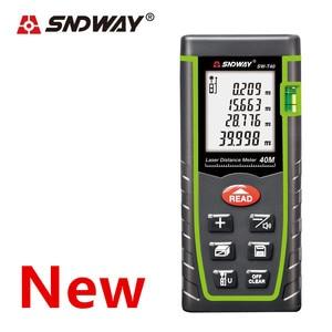 Image 3 - SNDWAY laser rangefinder distance meter 120M 100M 80M 60M 40M laser tape range finder build measure digital ruler trena roulette