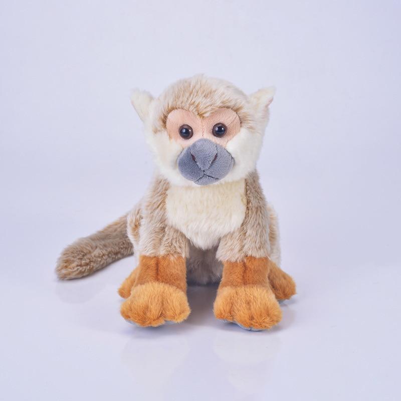 Haute qualité nouveau jouet dessin animé singe en peluche jouet environ 22x20cm doux poupée bébé jouet cadeau d'anniversaire s2159