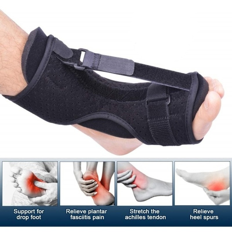 Adjustable Plantar Fasciitis Night Splint Foot Drop Orthotic Brace Elastic Dorsal Night Splint