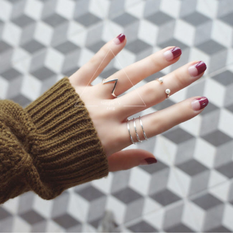 Bohemian Vintage Silver Color Large Geometric Rings For Women Gifts Girls Open Retro Antique Rings Wedding Jewelry 5