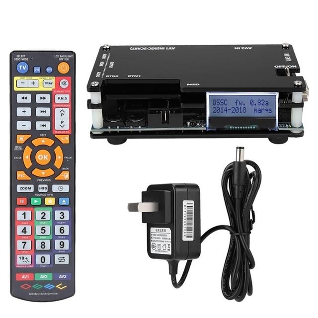 Zestaw konwertera OSSC HDMI do konsol gra Retro PS1 2 Xbox Sega Atari Nintendo, wtyczka amerykańska dodaj Adapter ue