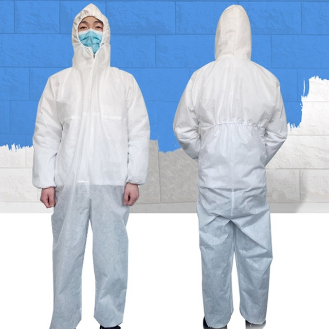 PPE Clothing  Anti-bite Anti-virus Garden Clothing Suit Outdoor Work Protection Anti Saliva Splash Plegable Cloth With Hard Hat 4