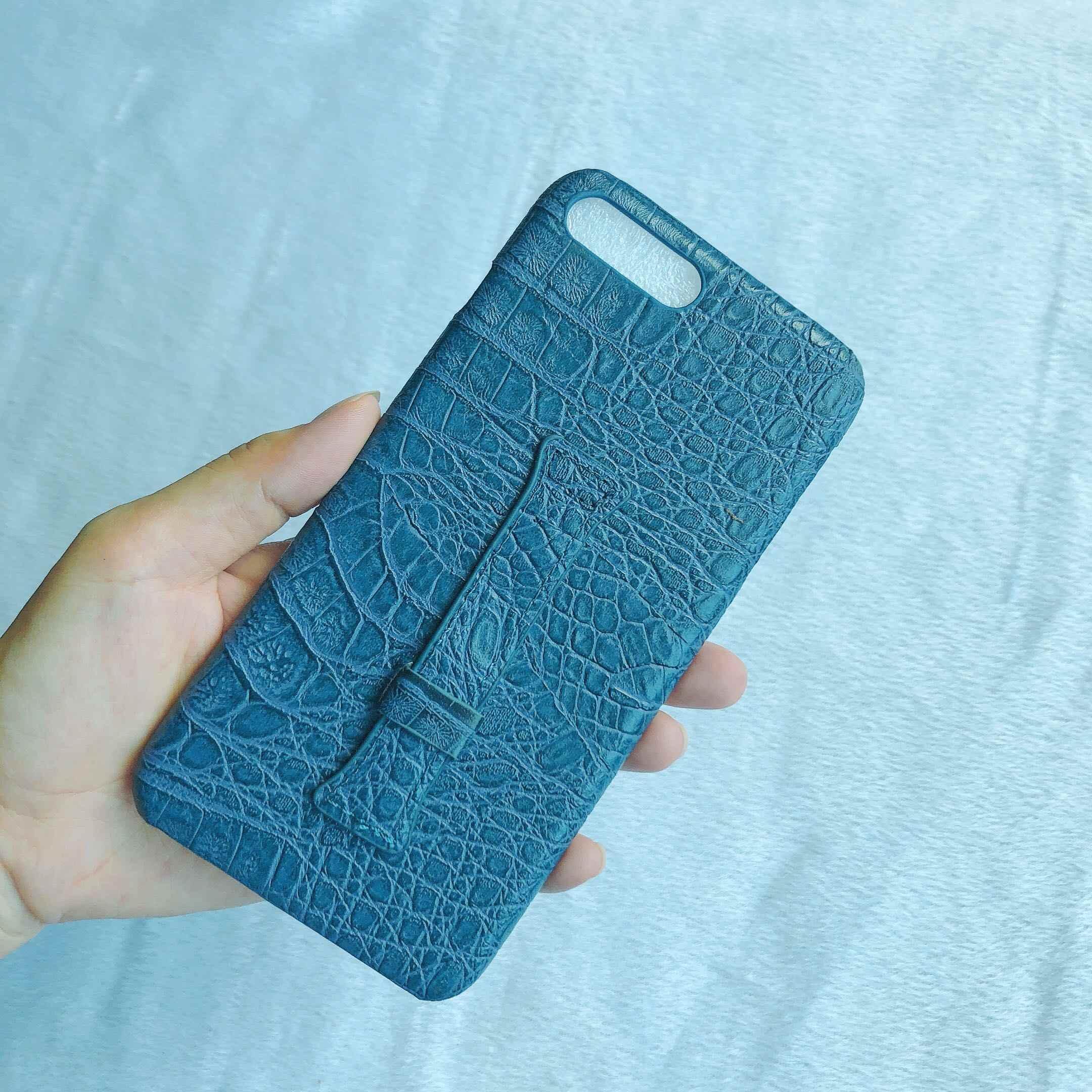 الراقية الأزياء الأعمال جلد التمساح نمط القشرة سوار قوس بسيط ل iphone XS ماكس XS XR X 6 6S 7 8 زائد غطاء
