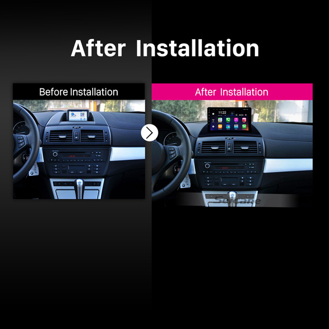 Seicane Android 10.0 Radio samochodowe nawigacja GPS Auto stereo dla 2004-2012 BMW X3 E83 2.0i 2.5i 2.5si 3.0i 3.0si 2.0d 3.0d 3.0sd