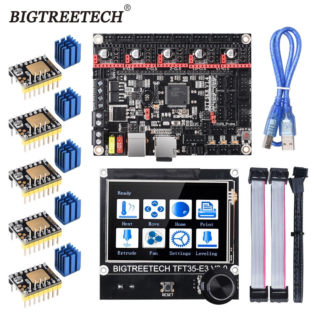 BIGTREETECH BTT SKR V1.4 SKR V1.4 Turbo 32 Bit kontrol panosu TFT35 E3 V3.0 dokunmatik ekran TMC2209 2208UART sürücü yükseltme SKR V1.3