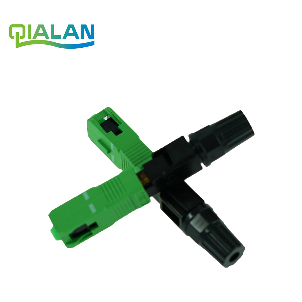 SC APC Fast Connector Embedded Connector FTTH Tool Cold Fiber Fast Connector SC Fiber Optic Connector
