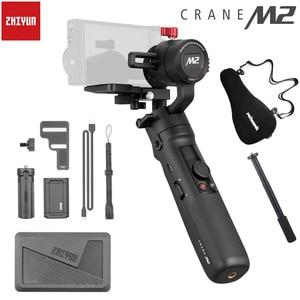 Image 1 - 3 осевой Ручной Стабилизатор Zhiyun Crane M2 Для беззеркальных камер Sony, смартфонов, экшн камер, A6500, A6300, M10, M6, Gopro