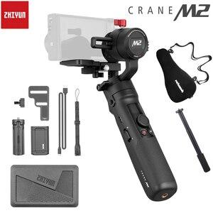 Image 1 - ZhiyunクレーンM2 3 軸ハンドヘルドソニーミラーレスカメラ用スマートフォンアクションカメラスタビライザーA6500 A6300 M10 M6 移動プロ
