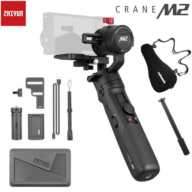 ZhiyunクレーンM2 3 軸ハンドヘルドソニーミラーレスカメラ用スマートフォンアクションカメラスタビライザーA6500 A6300 M10 M6 移動プロ