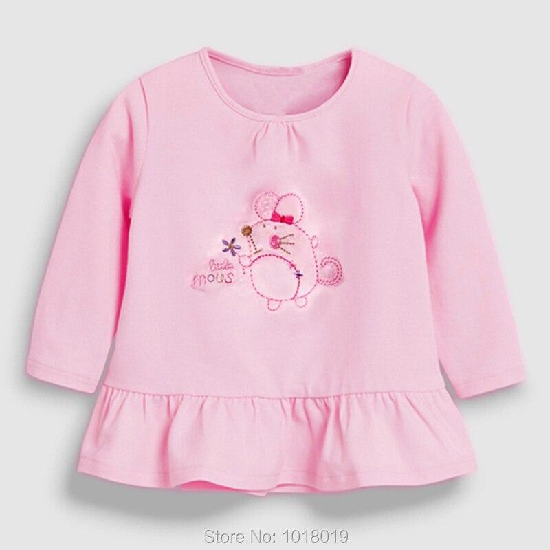 Brand 100% Cotton Baby Girls t shirts 1-7Y Kids Clothing Clothes Children Long Sleeve t-shirt Girls Blouses Undershirt Tops 2020 5