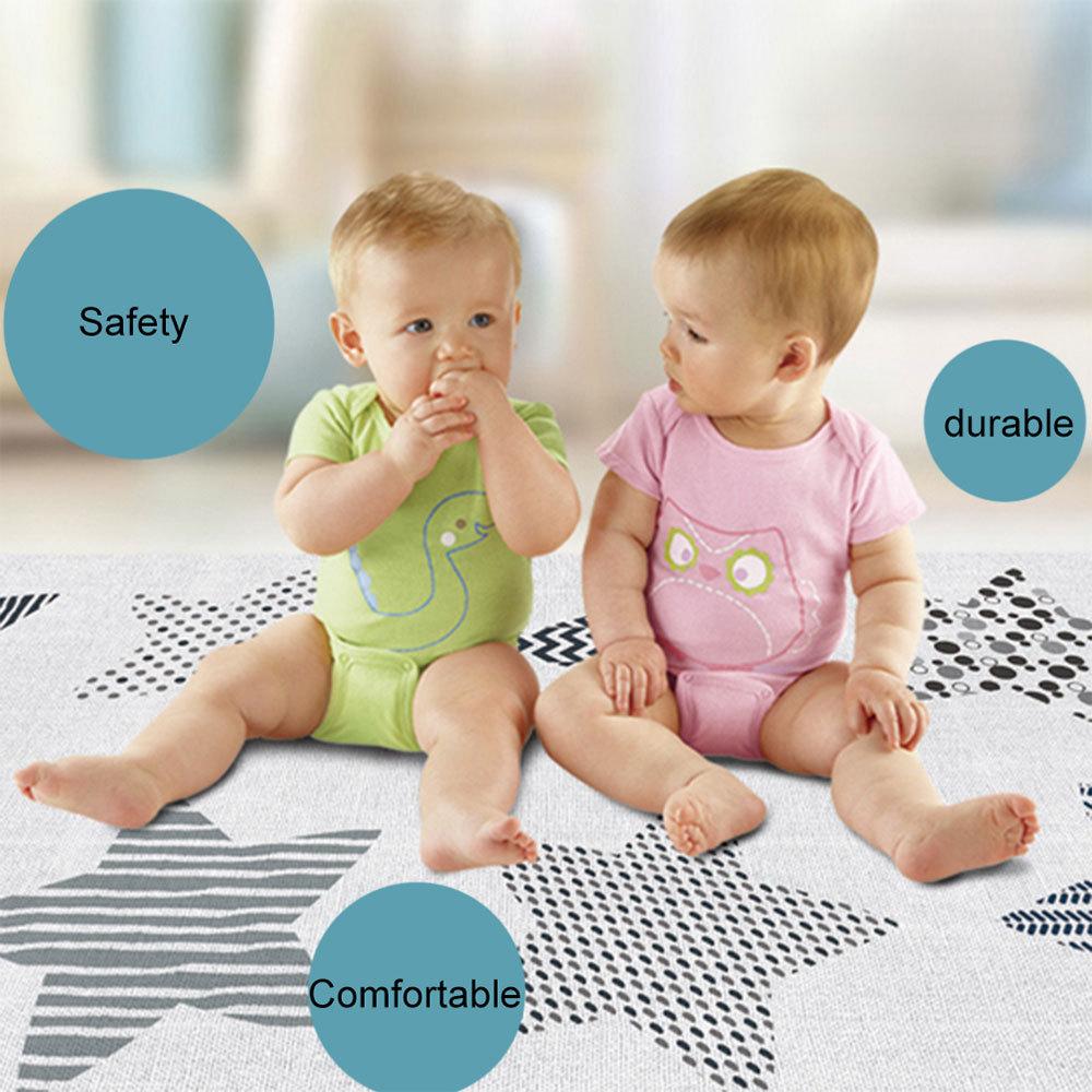 Tapis de jeu pour bébé brillant tapis de jeu pliant Puzzle tapis de jeu pour nourrissons tapis de Protection rampant en mousse et matelas de jeu