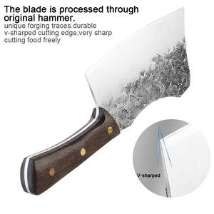Image 5 - XITUO nóż rzeźnicki ręcznie kute stal wysokowęglowa chiński nóż szefa kuchni wołowina tasak ostre mięso siekanie ciężki nóż