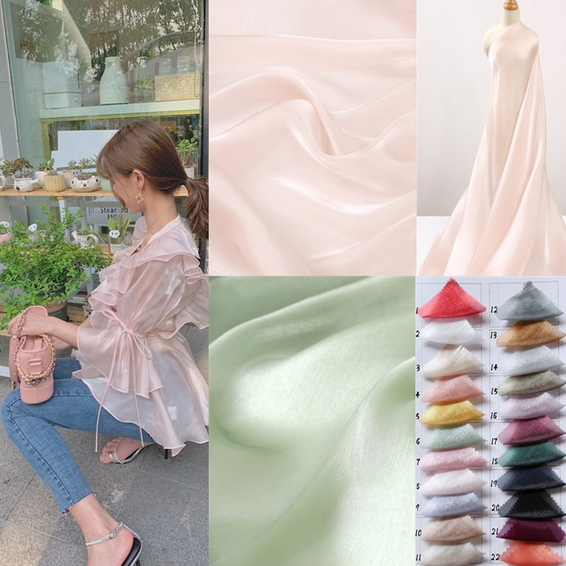 23 farben satin eis seidige haut tuch atmungs helle seide elegantes hemd rock kleidung hochzeit kleid DIYsewing stoff großhandel
