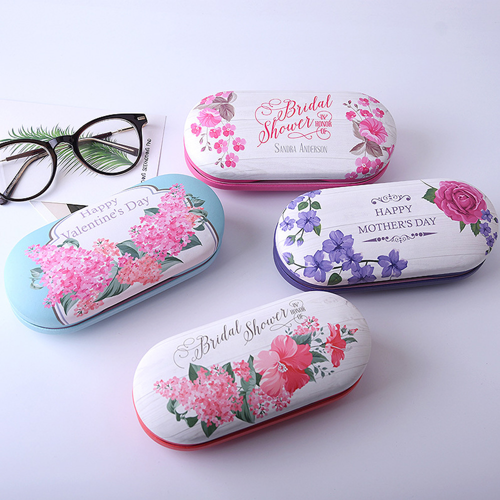 Cute Chinese Style Contact Lens Case Dual Use Full Function Convinent Glasses Box Leather Contact Lenses Beauty Pupil Boxes Kit