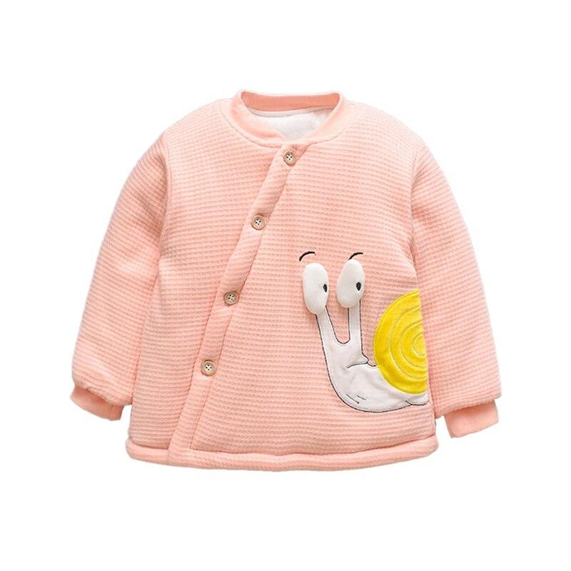 6M-4T Winter Baby Clothes Children Kids Winter Thicken Baby Boy Girl Long Sleeve Cartoon Print Jacket Outerwear Coat