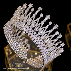 Image 1 - Fashion Tiara Princess Tiara Headdress Wedding Hair Accessories Big Crown Princess Bride Hair Accessories Bride  A00658