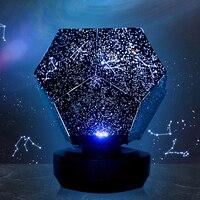 Romantico LED Star ry di Notte Della Lampada 3D Star Proiettore ha condotto la Luce di notte per i bambini Camera Da Letto Costellazione Proiezione Home Planetarium