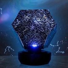 Romantische Led Starry Night Lamp 3D Star Projector Nachtlampje Voor Kinderen Kinderen Slaapkamer Projectie Thuis Planetarium