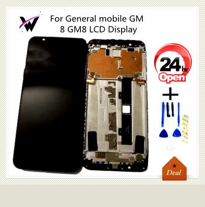 Black For General mobile GM 8 GM8 LCD Display +Touch Screen Digitizer Assembly Replacement Accessories For GM 8 LCD+Tools(China)