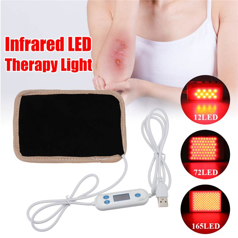 12/72/165LED USB Infrared LED Therapy Pad Light 630nm-660nm Deep Penetration For Pain Relief Safe Aids Healing Circulation