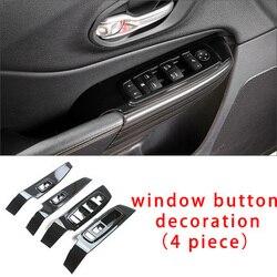 Dla Jeep cherokee chrome czarny samochód drzwi klamka do drzwi wewnętrznych panel molding zgrabna 4 sztuk|Chromowane wykończenia|   -