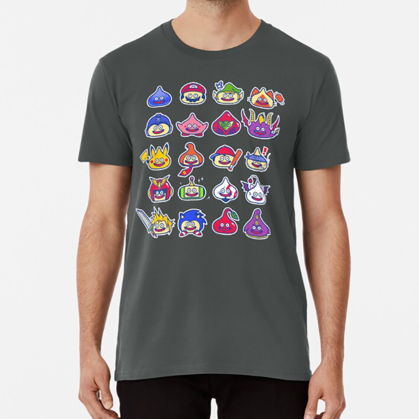 Command ? T Shirt Slimes Dragon Dragon Quest Slime Video Game Characters Cute Mario Funny image