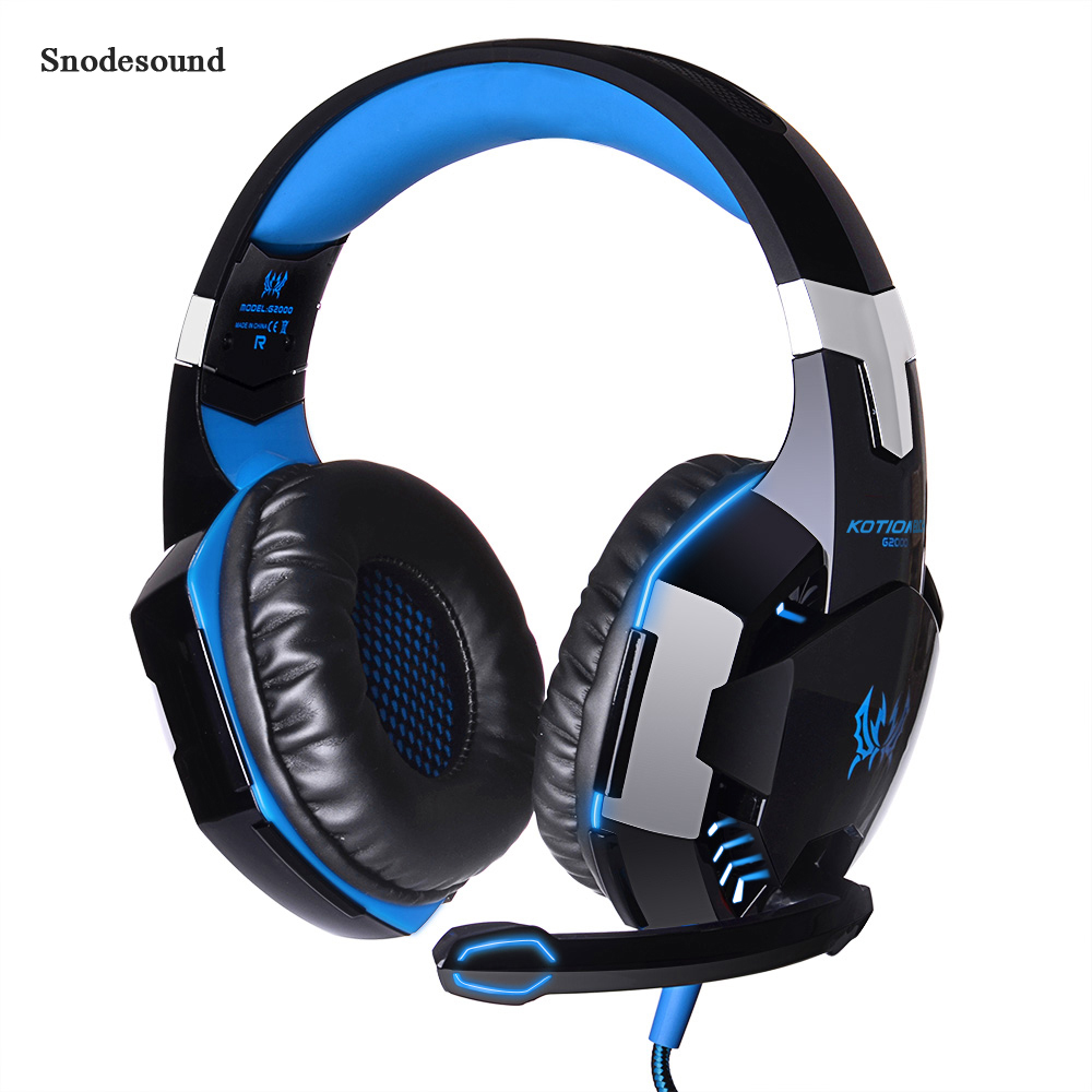 Snodesound <font><b>G2000</b></font> Gaming Headset <font><b>USB</b></font> Wired Over-ear Headphone With Micphone MIC Stereo Bass LED Light For PC Computer Game PS4 image