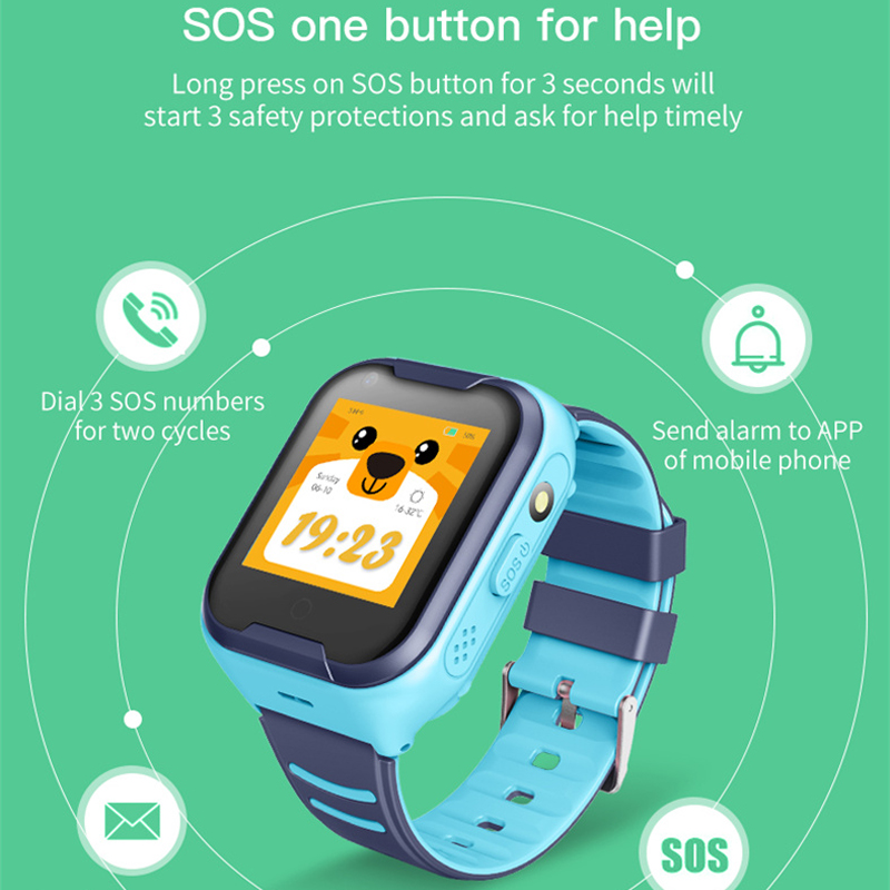 Chindren Smartwatch Dual 1.4 Inch WIFI GPS SIM SOS Help Voice Chat With Camera Smart Watch For Boys Girls Clock