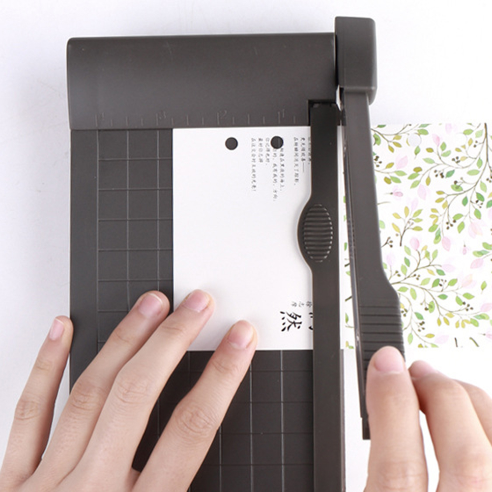 1-6 Inch Photo Paper Guillotine Built-In Ruler Paper Cutter Office Stationery Cutting Tools Portable A5 Paper Trimmer