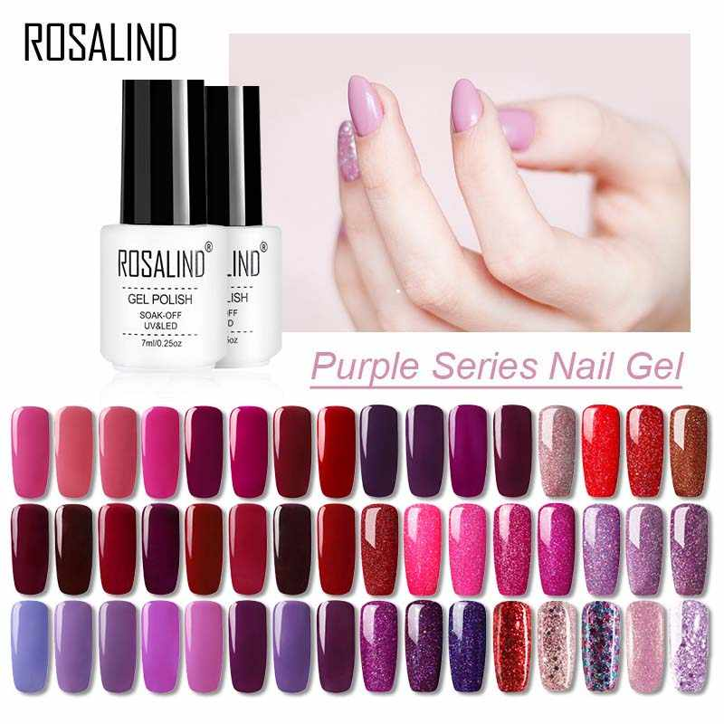 Rosalind Gel Polish Set Voor Nagels Manicure Semi Permanente Hybrid Soak Off Base Primer Gel 2019 Top Base Coat Gel vernis Lak