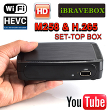 IBRAVEBOX M258 Dispositivo de TV inteligente Digital H.265 Full HD 1080P TV Turner apoyo wifi usb Set de reproductor multimedia Top Box