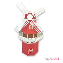 3D Windmühle Metall Schneiden Stirbt Schablonen für DIY Scrapbooking Stempel/foto album Dekorative Präge DIY Papier Karten