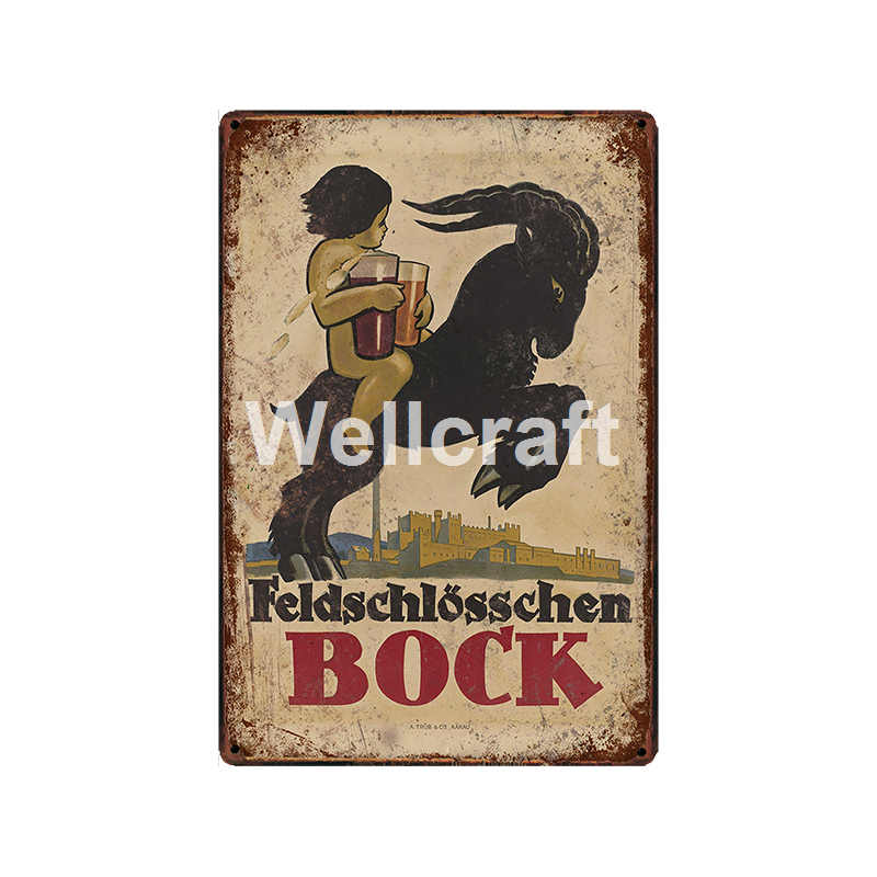 [ WellCraft ] Canada USA Beer Metal Signs Posters Vintage Painting Custom Decor LT-1974