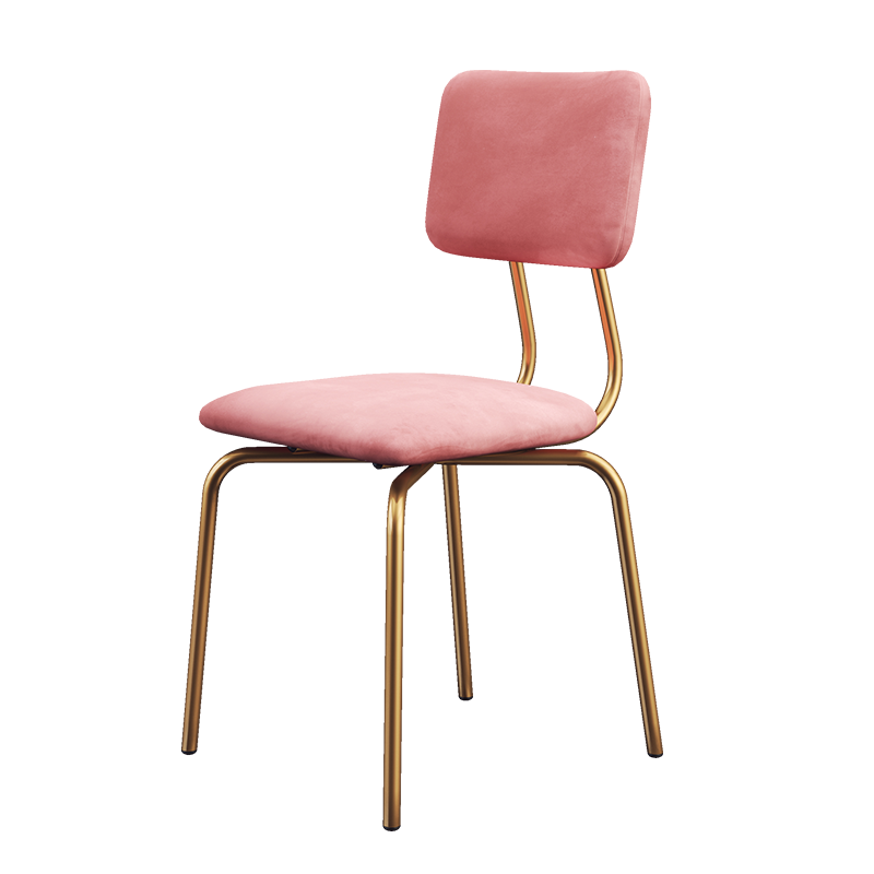 Dining Chair Modern Simple Ins Dressing Chair Dressing Stool Desk Chair Single Iron Art Light Luxury Restaurant Back Chair