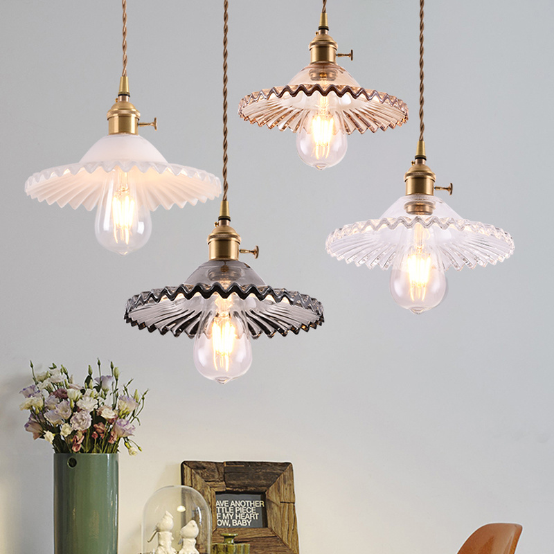 Creative Colorful Lotus Glass Pendant Light Modern Macaroon Room Lamp Living Room Decoration Home Decor Led Kitchen Hanging Lamp|Pendant Lights| |  - title=