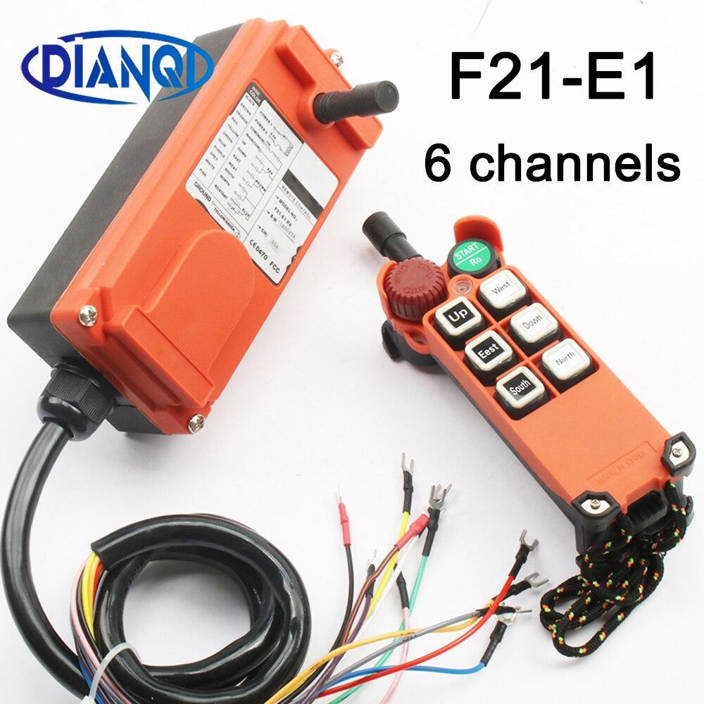 F21-E1B DC12V//24V//36V//110//220//380V 8 Channels Industrial Remote Controller switch Hoist Crane 1 Transmitter+1 Receiver Color: DC 36V