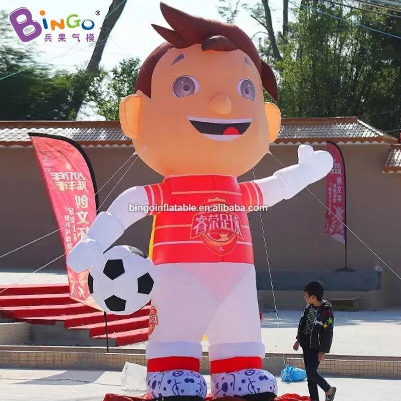 Bingo® 4m High Air-Blown Soccer Boy Cartoon Balloon Inflatable Outdoor Recreation Decor for Football Field