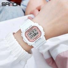 Sanda женские часы ярких цветов стильные светодиодные электронные