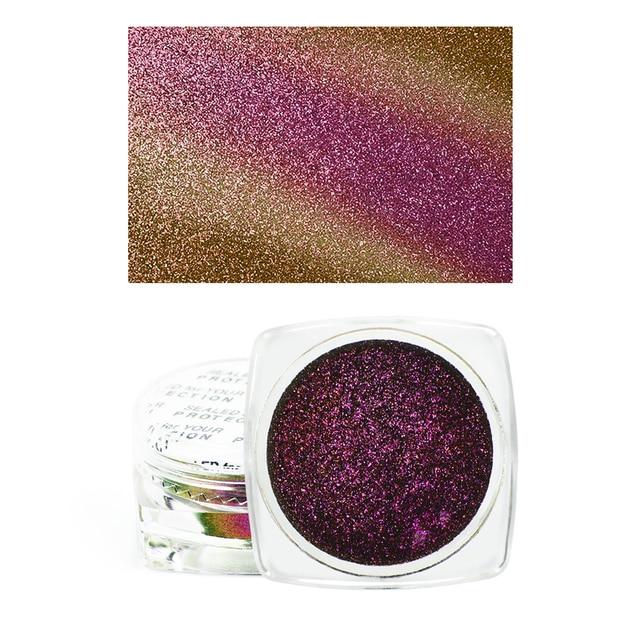 1 Box  Eyeshadow Glitter Chrome Eyeshadow Palette Powder Pigment Shiny Metallic Loose Eye Shadow Makeup Waterproof 4