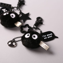 Backpack Keychain Doll Pendants Plush-Toy Gift Totoro Stuffed Kawaii Ball with for Boy